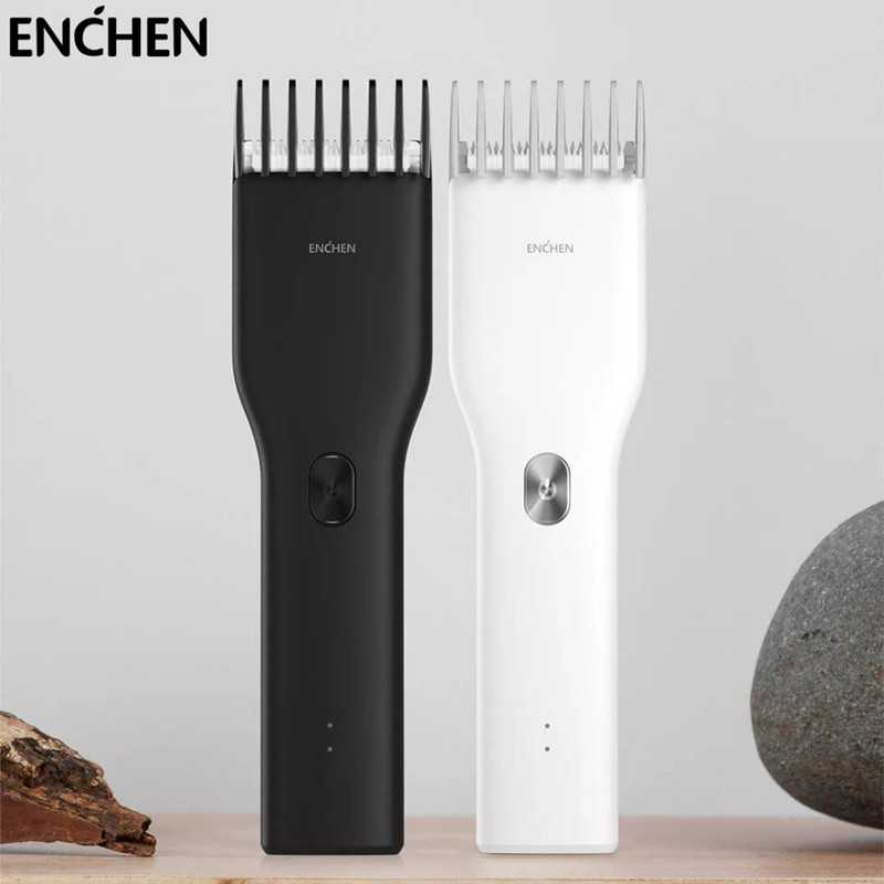 Enchen Boost Electric Hair Clipper Professional Cordless Rechargeable Ceramic Hair Cutter Machine Trimmer For Men Two 副本